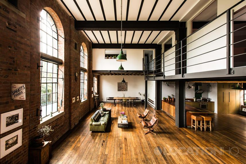 Warehouse Conversion Apartment Industrial New York Style